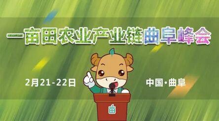 """""""一亩田农业产业链曲阜峰会""""2月21日召开"""