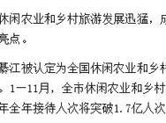 重庆市休闲农业和乡村旅游增速加快